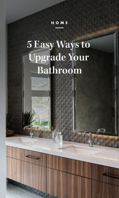 Eager for a change but low on funds for a total renovation? Even if you don't have the budget to re-tile the walls or swap out your shower for a standing tub, there are still plenty of ways to ramp up the luxe factor of this humble yet oh-so-important part of your home. /