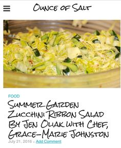 Don't know what to have for lunch on a blazing hot summer day? Try this delicious and healthy zucchini ribbon salad! I learned how to make it from Grace Marie Johnston's cooking class at Bristol Farms in Manhattan Beach. The EASY recipe is provided in my post.