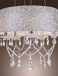 Chandelier ,  Modern/Contemporary Drum Electroplated Feature for Crystal Metal Living Room Bedroom Dining Room – CAD $ 222.39