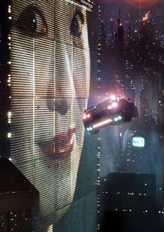 "nostalgia-gallery: "" Geisha neon board in LA,2019 from ""Blade Runner""(1982) """