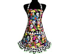 Day of The Dead Apron  Mexican Bride and Groom  Día by ElsiesFlat, $38.00 - I really want this one!