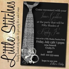 Fifty Shades of Grey Girls Night Out Party Invitation. $14.00, via Etsy.