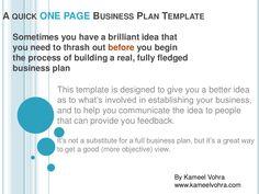 Establishing a business plan