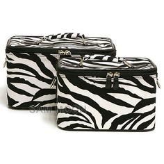 Zebra print make up cases!