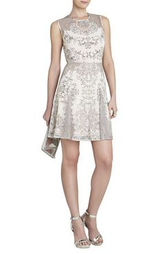 Gwyneth Sleeveless Flared Skirt Dress | BCBG