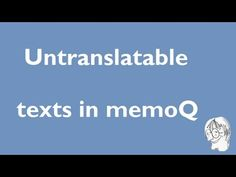 How to handle untranslatable texts in DOCX with memoQ