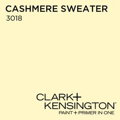 Common Area Color?  Cashmere Sweater 3018 by Clark+Kensington
