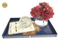 Decorative Trays Captivating Decorative Tray  Riverside Blue  Shops Deko And Decorative Trays Design Decoration