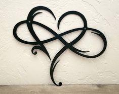85aa52ba3a398 Infinity Sign Metal Wall Art Metal Infinity Symbol and Heart Infinity  Symbol Tattoos, Infinity Heart