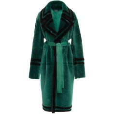 Fur Coat | Moda Operandi ($8,410) ❤ liked on Polyvore featuring outerwear, coats, oversized fur coat, green coat, long sleeve coat, oversized coats and green fur coat