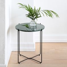 Cute dark green marble side table