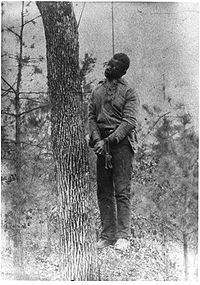 Lynching, an American form of torture and method White Americans used to terrorize African American communities.