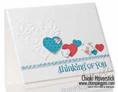 I think I must make something similar with my hearts embosslets.  Love the color pop with the hearts. #stampinup