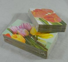 Gemaco Playing Cards Gem Collection #8005 TULIPS (Jumbo) 2008 Poker Double Deck  #Gemaco