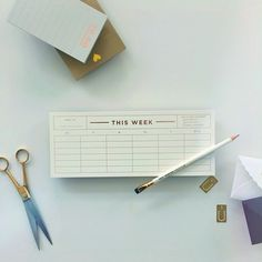 This Week desk notepad, rose gold foil | Smitten on Paper