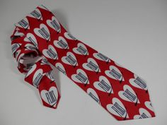 Novelty FLIRT Necktie by Ties in Disguise Red White by 2lewa
