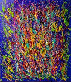 Coup de cœur du concours de peinture abstraite sur www.myrankart.com Explosion by monica jamagne