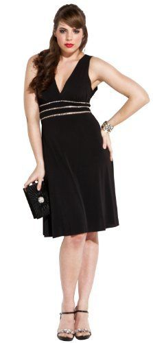 Sexy Little Black Cocktail Dress Crystals JR Plus Size: http://www.amazon.com/Little-Black-Cocktail-Dress-Crystals/dp/B000TNDGXQ/?tag=sewofrho-20