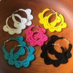 Ideas For Crochet Jewelry Patterns Necklace Simple Best Picture For crochet blanket patterns For Your Taste You are looking for something, and it. Crochet Necklace Pattern, Crochet Jewelry Patterns, Crochet Blanket Patterns, Crochet Accessories, Crochet Stitches, Crochet Braid Styles, Etsy Earrings, Hoop Earrings, Earrings Handmade