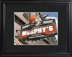 NFL Pub Print with Matted Frame Personalized Free