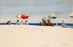Edward Hopper, Gloucester Beach, Bass Rocks 1924 on ArtStack #edward-hopper #art