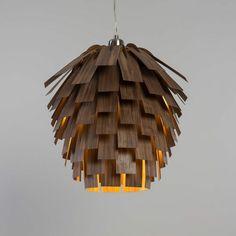 lámparas de madera modernas