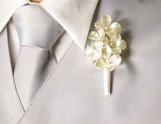 Cream buttonhole