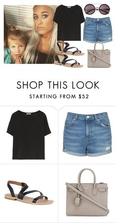 """""""Baby sitting Lux with Lottie!"""" by directionermixer01 ❤ liked on Polyvore featuring T By Alexander Wang, Topshop, Lucky Brand, Yves Saint Laurent and Wildfox"""