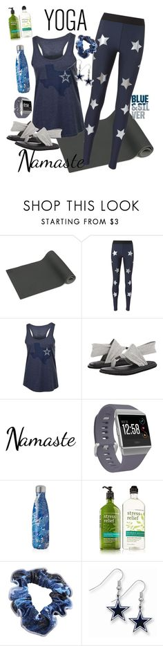 """""""My Fangirl Yoga Set"""" by dobesht ❤ liked on Polyvore featuring Ultracor, sanuk, Fitbit and S'well"""