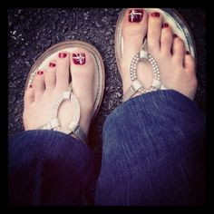 My Christmas toes!