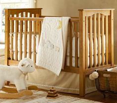Pine Kendall Fixed Gate Crib | Pottery Barn Kids
