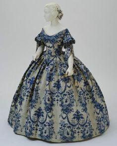 Evening dress, France, ca. 1850-1855. Metropolitan Museum of Art