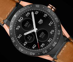 """TAG Heuer Connected Smartwatch In Rose Gold - by Patrick Kansa - TAG Heuer gives the Connected a makeover. More details at: aBlogtoWatch.com - """"As was mentioned in the original introduction article for the TAG Heuer Connected, it was all but inevitable for the Swiss brands to get into the gadgety world of smartwatches. Admittedly, the TAG Heuer Connected did do a good job of looking like the mechanical watches that came before it, and the titanium gave it some feel of luxury..."""""""