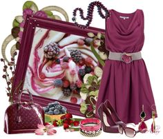 """""""Berries!"""" by albaor ❤ liked on Polyvore"""