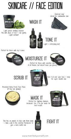 LUSH Cosmetics Skincare regime