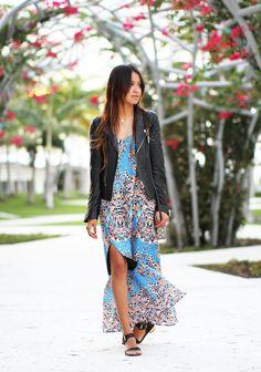 Dress: Myne ( similar here )  |  Jacket: Anine Bing (cool ones here + here) |  Sandals: Senso (cute ones here + here)