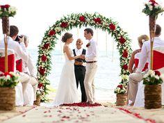Beautiful beach wedding at Rocky's Boutique Resort, Koh Samui, Thailand #destinationweddings