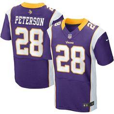 New Nike Vikings 28 Adrian Peterson Nike Elite Jersey Purple Team Color NFL Jersey