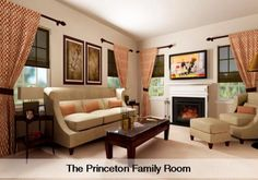 Princeton family room by Lennar