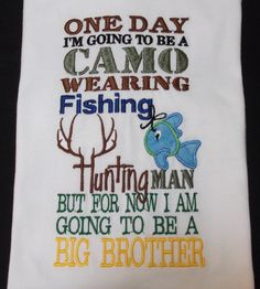 Big Brother shirt One day I'm going to be by Birthdayshirtsanmore