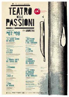 Guido #Scarabottolo  per il manifesto della Stagione 2007-08 del #Teatro delle Passioni di #Modena