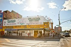 Reason #134: Nathan's hot, delicious dogs. #newyork