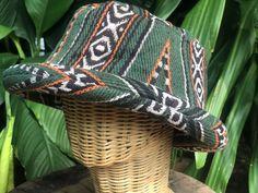 Cotton Boho Roll brim Hat Aztec hat Hippie Style Woven Drug   Etsy