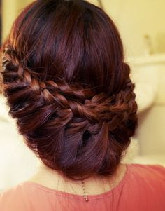 Draped side braids
