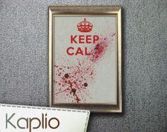 Keep Calm Cross Stitch Pattern [PDF FILE]