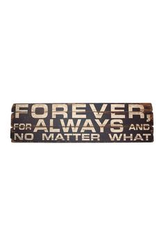 """Forever"" ""Wood Sign"