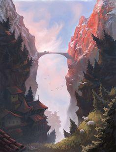 16 Ideas For Concept Art Environment Inspiration Fantasy Fantasy Art Landscapes, Fantasy Landscape, Landscape Art, Fantasy Concept Art, Fantasy Artwork, Concept Art World, Fantasy Places, Fantasy World, Ahegao Manga