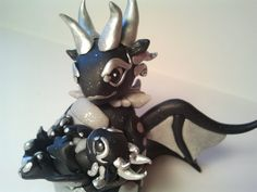Mother and Child Dragon Figurine, Polymer Clay Dragon, Mama and Baby Dragon, Clay dragon sculpture