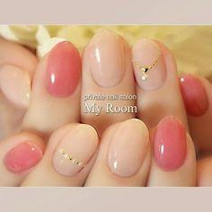pink nude nail art