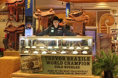 Trevor Brazile at MGM Grand Las Vegas, most Gold Buckles under one roof! This man is seriously one of my heroes! And he is so cool and humble about it too!